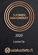 Luuwe Kodit on saanut Suomen vahvimmat 2020 -sertifikaatin.